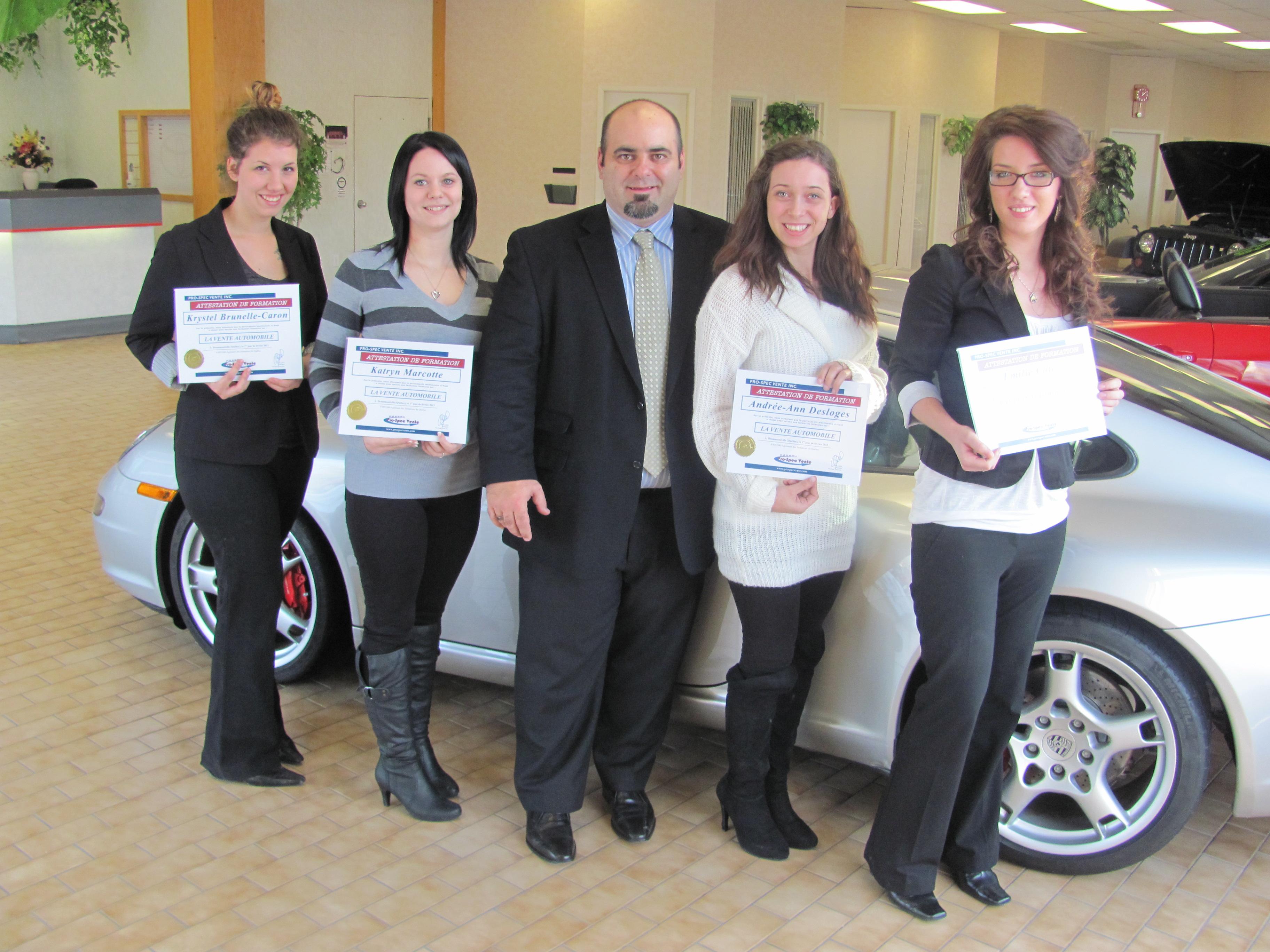 Nouvelles dipl m es en vente automobile pro spec vente for Bureau pro drummondville