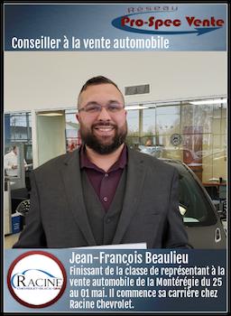Jean-François Beaulieu - Conseiller à la vente automobile chez Racine Chevrolet