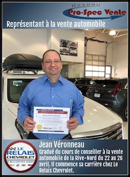 Jean Véronneau - Représentant à la vente automobile chez Relais Chevrolet