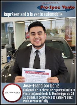 Jose-Francisco Donis - Représentant à la vente automobile chez Park Avenue Infiniti