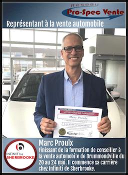 Marc Proulx - Représentant à la vente automobile chez Infiniti de Sherbrooke