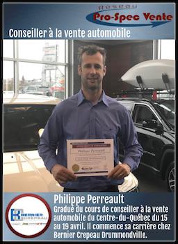 Philippe Perreault - Conseiller à la vente automobile chez Bernier Crépeau Drummondville