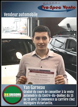 Yan Garneau - Vendeur automobile chez HGrégoire Victoriaville