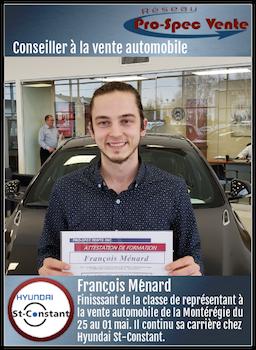 François Ménard - Conseiller à la vente automobile chez Hyundai St-Constant