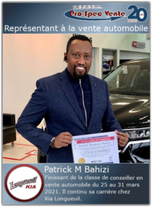 Emploi en vente automobile